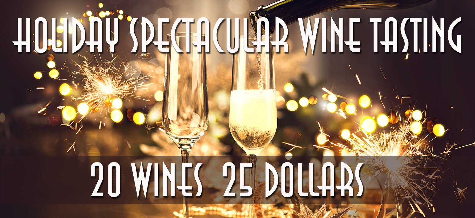 Holiday Wine Tasting 20 Wines for 25 Dollars
