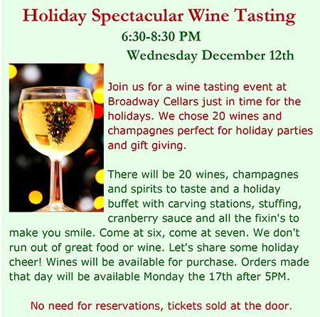 Holiday Spectacular Wine Tasting
