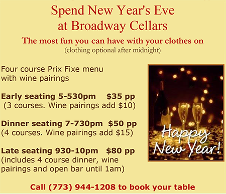 New Year's Eve at Broadway Cellars